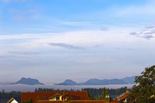 Landscape, Summer, Alpine, Mountains, Fog, Heuberg