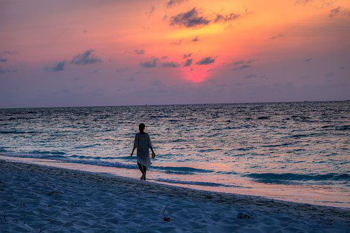 Yellow Sky, Nature, Sunrise, Sunset, Beach, Maldives