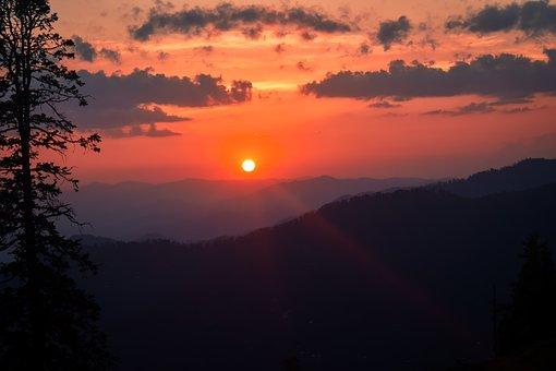 Sunset At Haji Peer Azad Kashmir, Kashmir, Nature