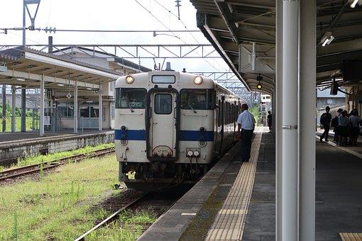 Landscape, Station, Travel, Japan, Train