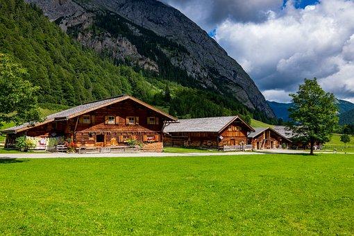 Alm, Bergdorf, Village, Tyrol, Eng, Landscape