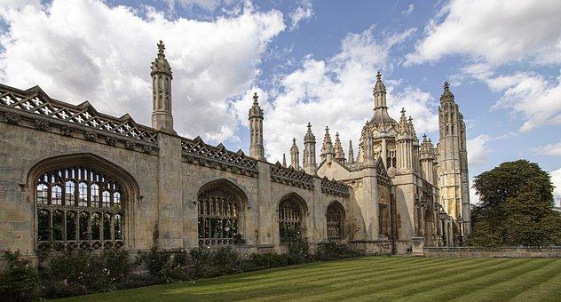 Building, Cambridge, University, Gothic, Stone