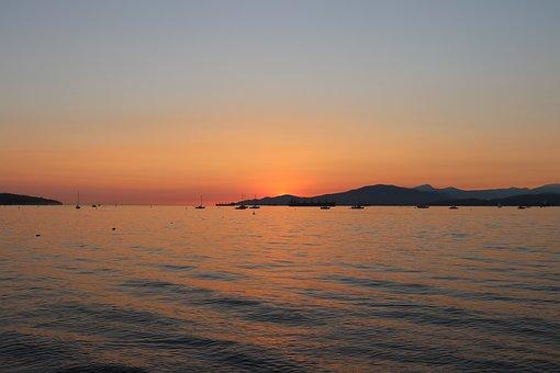 Sunset, Sea, Ocean, Beach, Sky, Water, Dusk, Sunrise