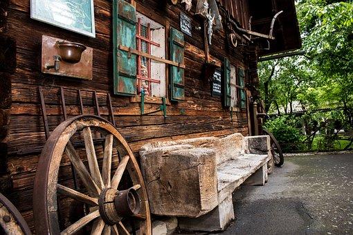 Old, Retro, Wooden Wheel, Wood, Vintage