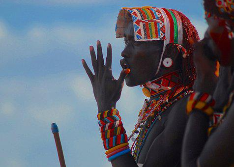 Samburu, Moran, Ceremony, Tribal, Beads, Africa