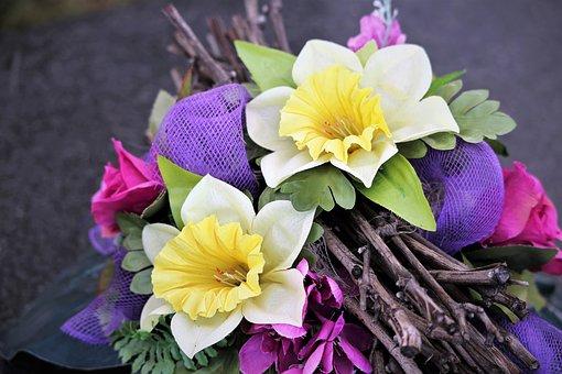 Colorful Artificial Flowers, Arrangement, Decoration