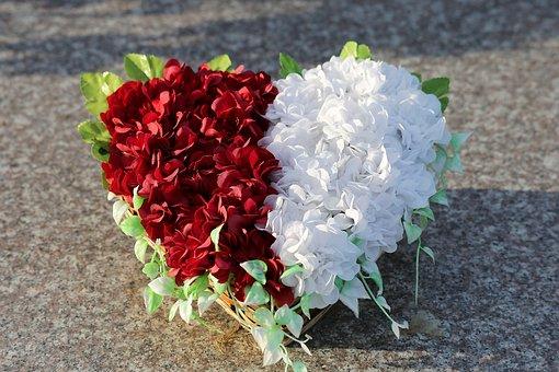 Heart, Artificial Flower Decoration