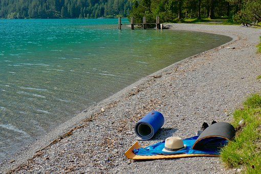 Bathing Place, Beach, Swim, Towel, Lake, Waters, Nature