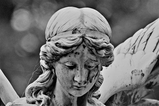 Statue, Sculpture, Bw, Black And White Photography