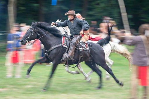Cowboy, Horse, Ride, Rider, Wild, Lasso, West, Seat
