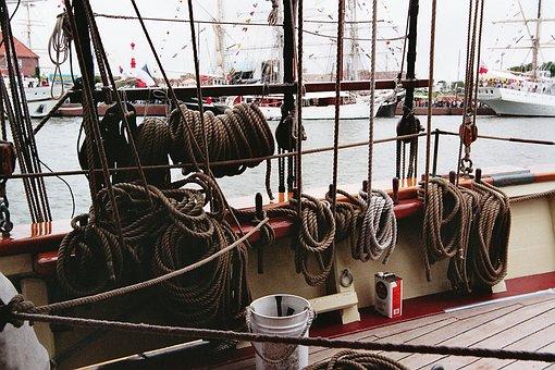 Rigging, Dew, Sailing Vessel, Cordage, Maritime, Rope