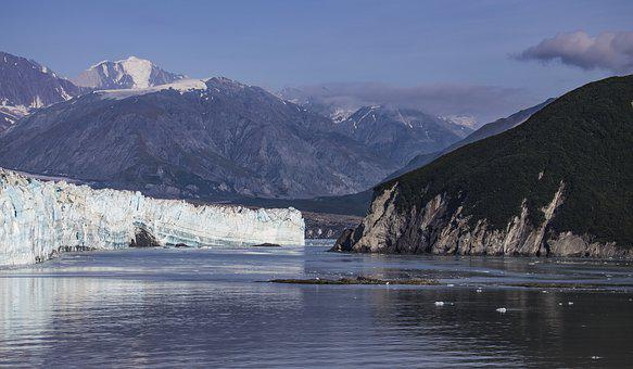 Glacier, Alaska, Water, Ice, Landscape, Snow, Mountains