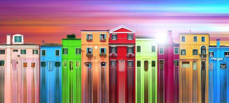 Architecture, Burano, Italy, Venice, City, Building