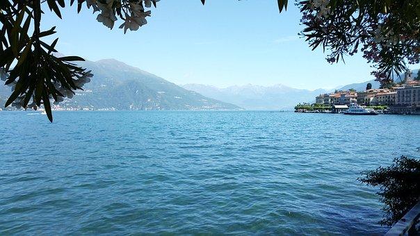 Lake Como, Italy, Lake, Vacations, Water, Mountains