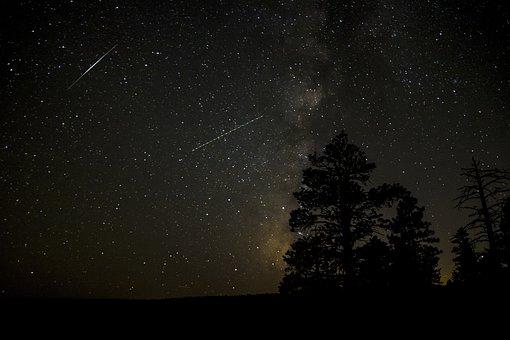 Milky Way, Bryce Canyon, Utah, Landscape, Sky, Galaxy