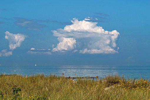 Summer Day, Baltic Sea, Dunes, Beach, Sand, Sea, Nature