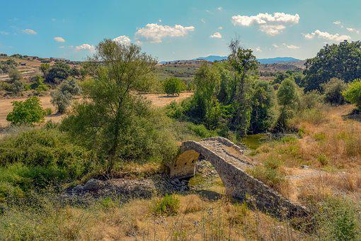 Bridge, Old, Architecture, Stone, Countryside, Valley
