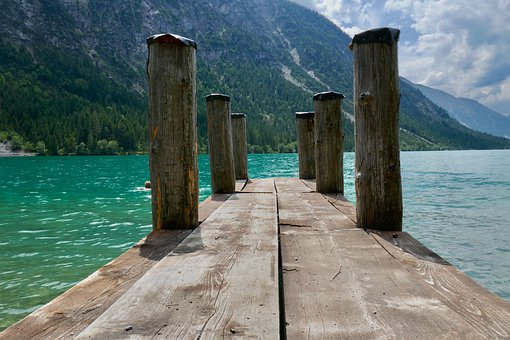 Web, Pier, Boat Stop, Boardwalk, Lake, Bollard