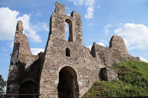 Castle, Potštejn, Ruins, Historical, Middle Ages