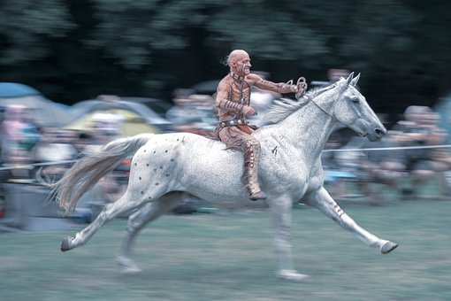Indian, Horse, Gallop, Warrior, Ride, Strain