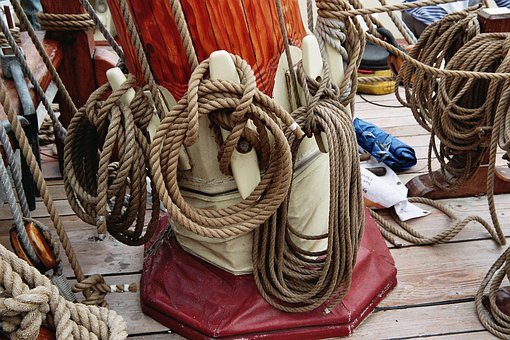 Rigging, Rope, Sailing Vessel, Cordage, Thaw, Maritime