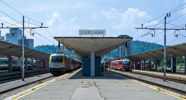 Ljubljana, Train, Railway Station, Trainstation