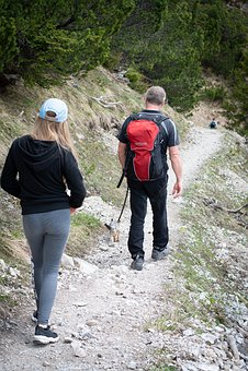 Wanderer, Hiking, Trail, Nature, Backpack, Human, Away