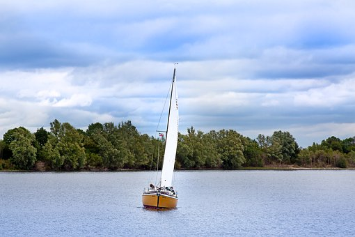 Sailing Boat, Water, Sail, Boat, Ship, Vacations, Blue