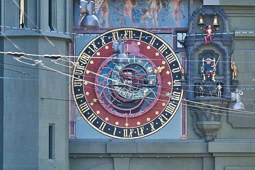 Berne, Switzerland, Zytglogge, Clock, Tower, City