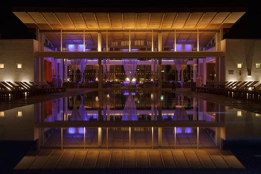 Building, Night Photograph, Architecture, Abendstimmung