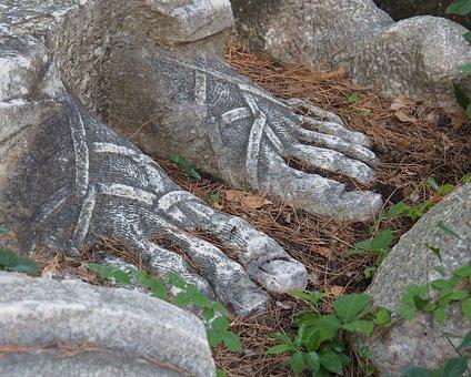 Statue, Feet, Sculpture, Artwork, Barefoot, Naked