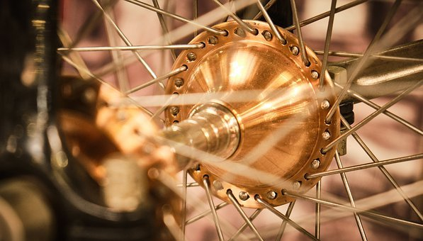 Hub, Bicycle Hub, Spokes, Bike, Wheel, Close Up