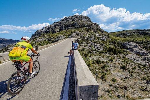 Spain, Mallorca, Sa Calobra, Biker, Road Bike