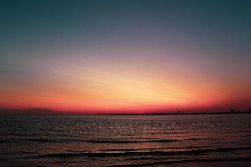 Sky, Sea, Sunset, Water, Nature, Evening, Dusk, Coast