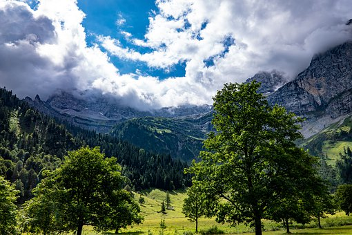 Alpine, Mountains, Clouds, Cloud Mood, Enormous, Nature