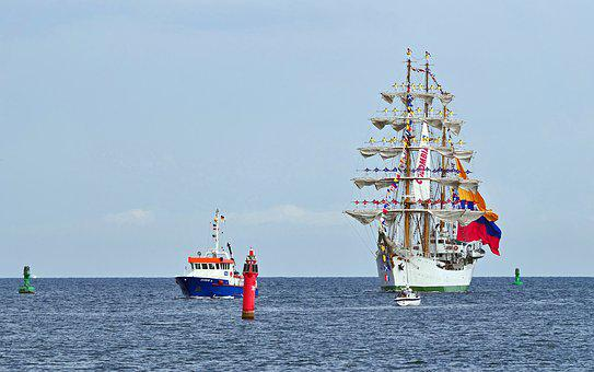 Sail Training Ship, Colombia, Geflaggt, Sailors