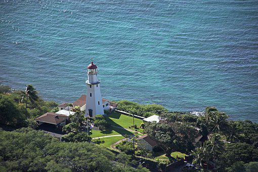Hawaii, Lighthouse, Honolulu, Ocean, Landscape, Island