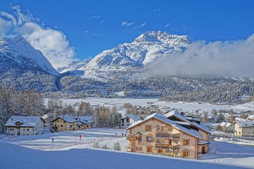 Switzerland, Mountains, Alpine, Snow