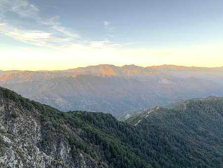 Mountains, Landscape, Nature, Californian, Dusk, Vast