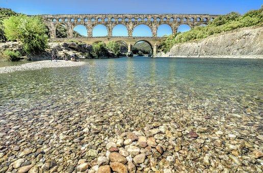 Pont Du Gard, France, Gardon, Bridge, Aqueduct