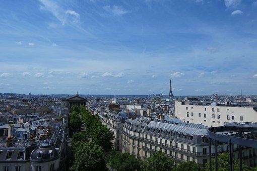 Rooftop, Paris, Eiffel Tower, City, Cityscape, France