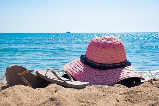 Beach, Sea, Hat, Summer, Water, Sand, Sky, Vacation