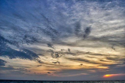 Sunrise, Sunset, Sea, Nature, Sky Landscape, Orange