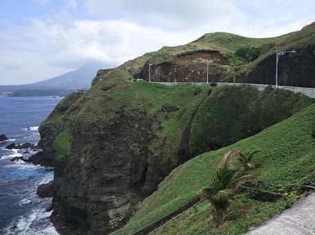 Road, Cliff, Landscape, Nature, Cliffs, Water, Sky