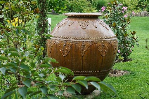 Garden, Summer, Green, Plant, Vessel, Nature, Flowers