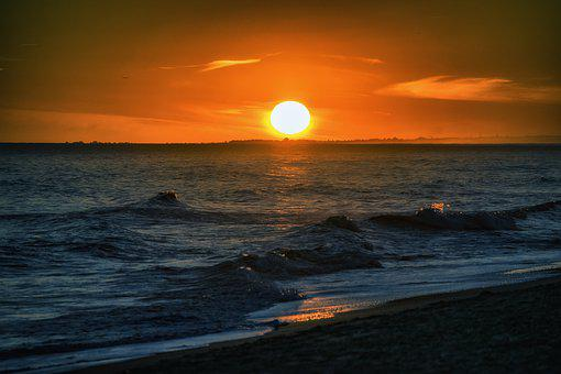 Sunset, Atardecer, Sea, Landscape, Orange, Evening, Sun