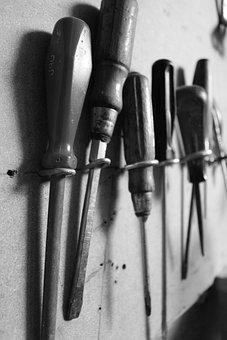 Tool, Screwdriver, Black And White, Repair, Craftsmen