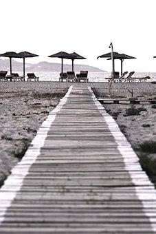 Wooden Pier, Sea, Summer, Holidays, Sand, Outdoor, Path