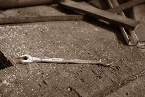 Wrench, Tool, Iron, Repair, Work, Maintenance, Mechanic