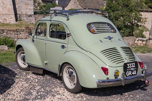 Car, Former, 4cv, Vintage, Oldtimer